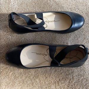 Jessica Simpson Women's Black Ballerina Flat